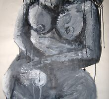 Black & White Nude (July 2005 Acrylic) Alison B Allen by fatchickengirl