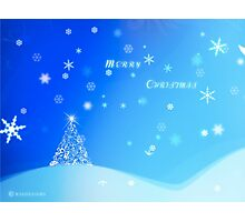 Christmas Greeting Card & I Phone Case Design Photographic Print
