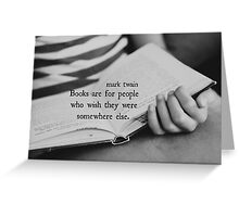Mark Twain Books Greeting Card