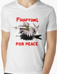 Fighting For Peace (4) Mens V-Neck T-Shirt