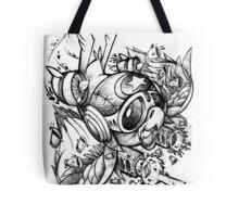 War Bird Doodle Tote Bag