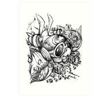 War Bird Doodle Art Print