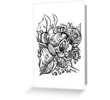 War Bird Doodle Greeting Card