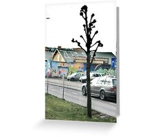 Caught in the Traffic Greeting Card
