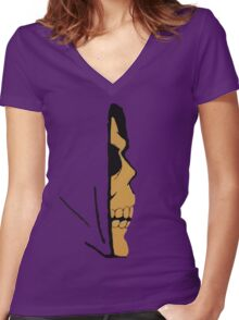 Bader to The Bone Women's Fitted V-Neck T-Shirt