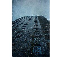 Snow series Tower Block Photographic Print