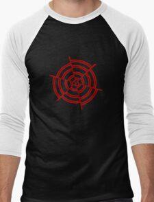 Mandala 2 Colour Me Red  Men's Baseball ¾ T-Shirt