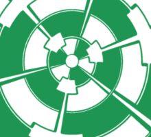 Mandala 3 Green With Envy  Sticker