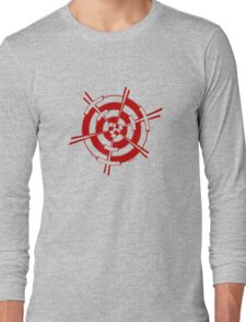 Mandala 3 Colour Me Red Long Sleeve T-Shirt