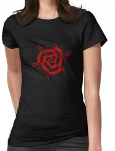 Mandala 3 Colour Me Red Womens Fitted T-Shirt