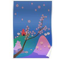 Hanami Season in Japan Poster