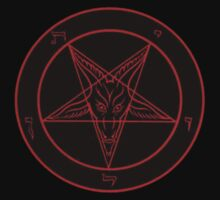 Red Baphomet by cisnenegro