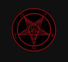 Red Baphomet Long Sleeve T-Shirt