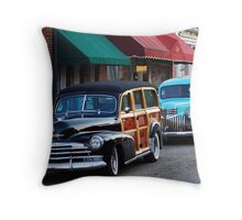 Rural Town Morning Rides (LLD4) Throw Pillow