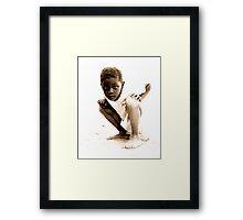 Curious Boy Framed Print