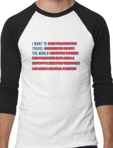 American Wanderlust Men's Baseball ¾ T-Shirt