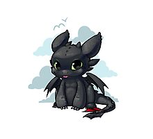Chibi Toothless Photographic Print
