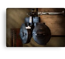 Doctor - Optometry - An old phoropter  Canvas Print