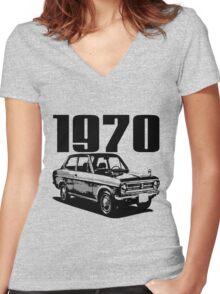 1970 Women's Fitted V-Neck T-Shirt