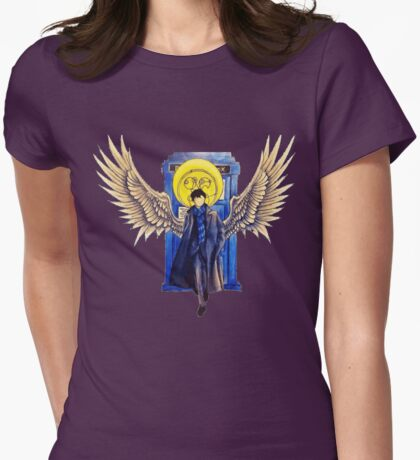 The Superwholock time-travel Detective Womens Fitted T-Shirt