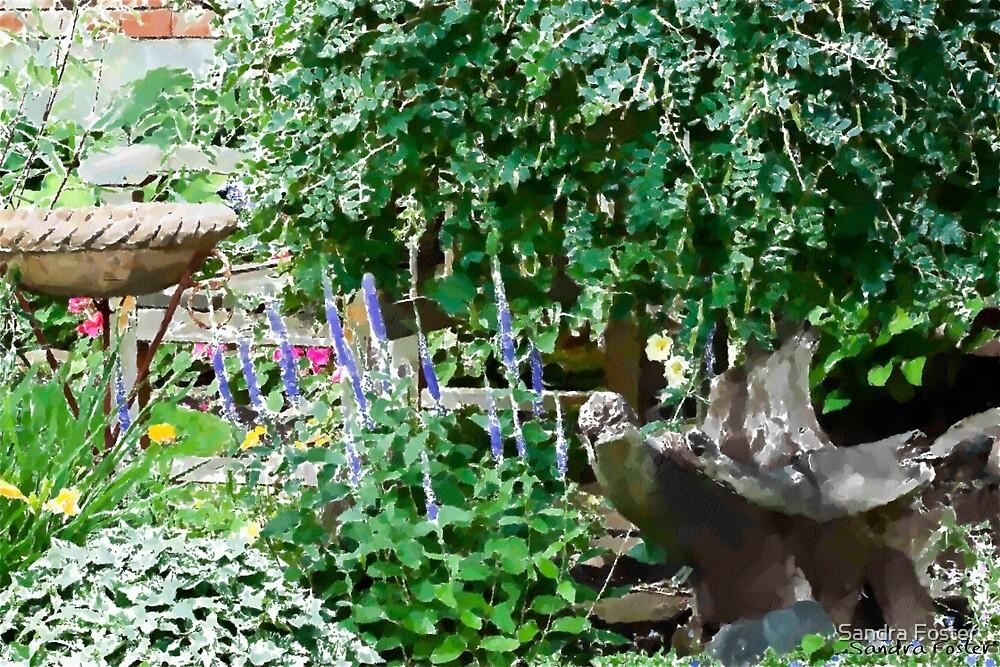 Garden Scene Gouache  by Sandra Foster
