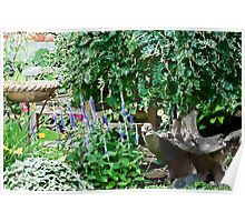 Garden Scene Gouache  Poster