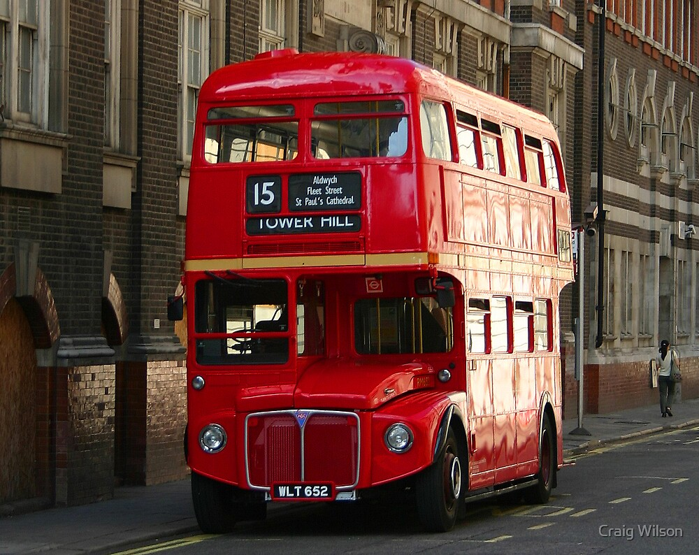 """London Red Bus"""" by Craig Wilson   Redbubble"""
