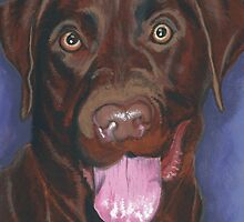 CHEEKY CHOCOLATE LABRADOR by LouLouD123