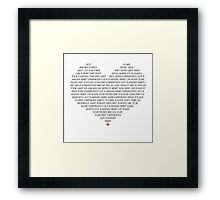 Hungry Heart Framed Print