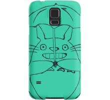 Totoro and his umbrella Samsung Galaxy Case/Skin