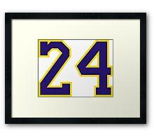 Kobe Bryant 24 Framed Print