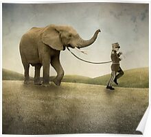 An Elephant and his Boy Poster