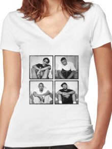 Black Hippi Women's Fitted V-Neck T-Shirt