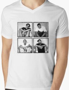 Black Hippi Mens V-Neck T-Shirt