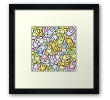 color bunnies Framed Print