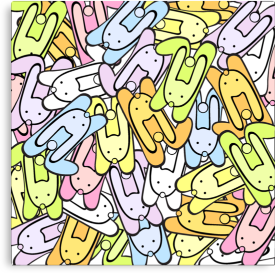 color bunnies by VioDeSign