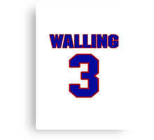 National baseball player Denny Walling jersey 3 Canvas Print