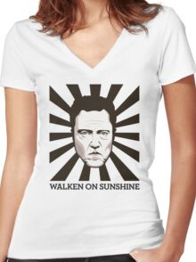 Walken on Sunshine - Christopher Walken Women's Fitted V-Neck T-Shirt
