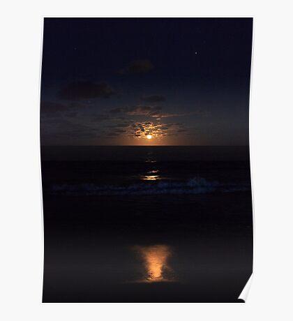 Hawaiian Moonrise Poster
