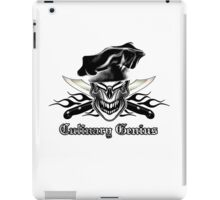 Chef Skull 9: Culinary Genius 3 black flames iPad Case/Skin