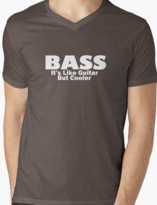 Bass for ever (White) Mens V-Neck T-Shirt