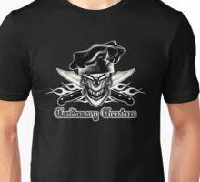 Chef Skull 9: Culinary Genius 3 white flames Unisex T-Shirt