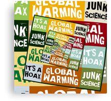 Global Warming Fraud Canvas Print