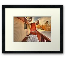 Empty Stairs Framed Print