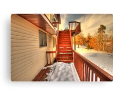 Empty Stairs Canvas Print