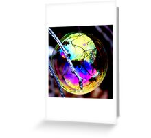 Bubble Reflections Greeting Card