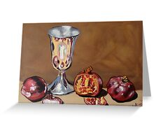 Silver Chalice with Fruit & Vegies Greeting Card