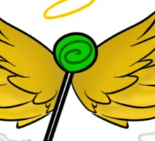 My Guardian Angel Is a Trickster BLACK TEXT Sticker