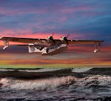 Catalina Flying Boat at Sunset (USAF Version) by © Steve H Clark Photography