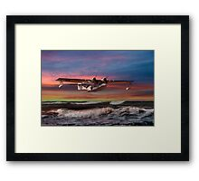 Consolidated PBY-5A at Sunset (US Navy Version) Framed Print